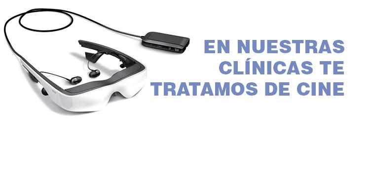 Olvídate de que estás en el dentista con las gafas ZEISS cinemazer OLED de nuestras clínicas