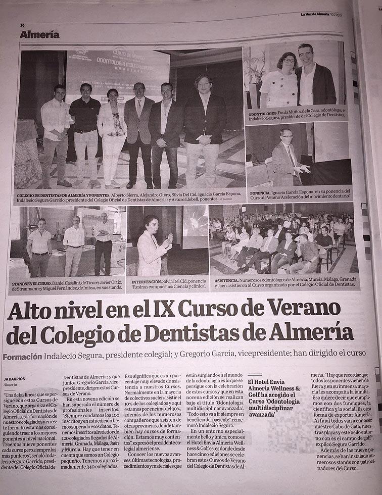 Dr. Daniel Rodrigo participa como ponente en el Colegio de Dentistas de Almería