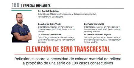 El Dr. Daniel Rodrigo publica un nuevo artículo en la revista Gaceta Dental