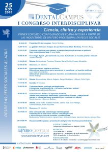 Programación Congreso Dental Campus 2016