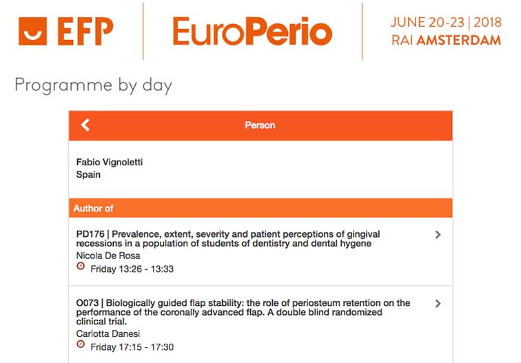 Participación de los doctores de PerioCentrum en el congreso EuroPerio 9