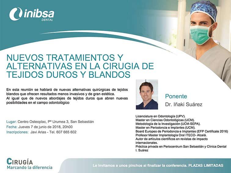 Ponencia del Dr. Iñaki Suárez en el taller organizado por Inibsa Dental